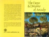 The Days & Dreams of Arcady - New Creation Teaching Ministry