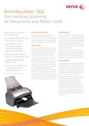 Xerox DocuMate® 262i Fast and Easy Scanning for ... - Scanners