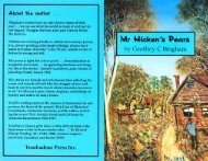 Mr Hickens Pears - New Creation Teaching Ministry