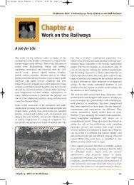 Chapter 4 - Work on the Railways - Rail, Tram and Bus Union of NSW