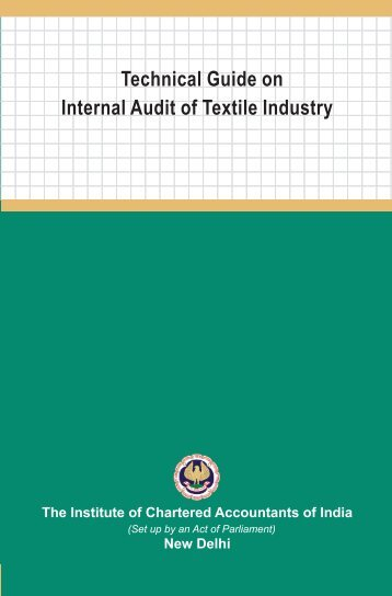 New Delhi Technical Guide on Internal Audit of Textile Industry