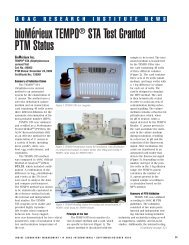 TEMPO STA AOAC ILM article, Sept/Oct 2010 - bioMerieux