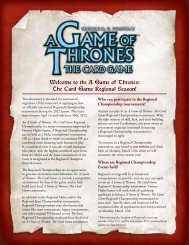 Welcome to the A Game of Thrones: The Card Game Regional ...