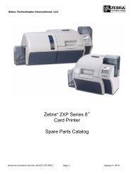 Zebra® ZXP Series 8™ Card Printer Spare Parts Catalog