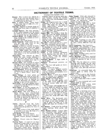 DICTIONARY OF TEXTILE TERMS.