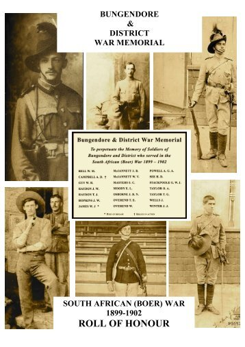 REVISED BOER WAR BOOKLET -FINAL (0545190511) - Bwm.org.au