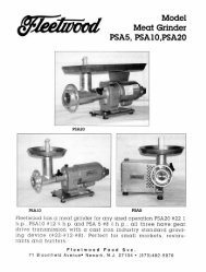 Model Meat Grinder PSA5, PSA10,PSA20 - J&C restaurant equipment