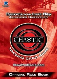 PDF Rule Book - Chaotic Trading Card Game