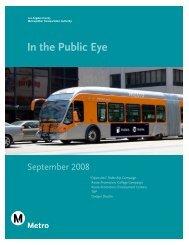 In the public eye - Spetember - Metro Bus
