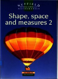 Shape, space and measures 2 - National STEM Centre