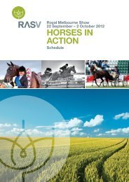 2 October 2012 HORSES IN ACTION Schedule - Royal Agricultural ...