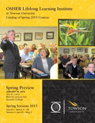 Spring 2013 Catalog (PDF) - Towson University