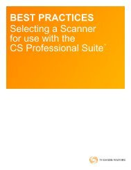 FileCabinet CS Selecting a Scanner white paper - Tax an - Thomson ...