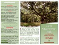 Lodging & Rental Rates - Camp Chowenwaw Park - Clay County!