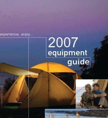 Camping World - 2006 Equipment Guide - sa camping world