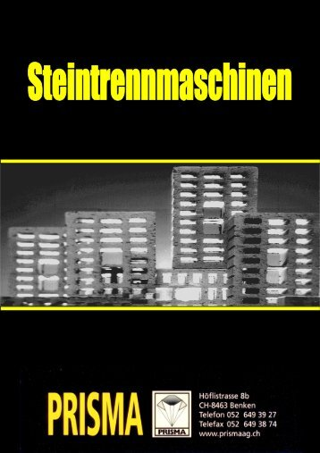 Broschüre neu Fräsen schwarz - Prisma Maschinenbau AG