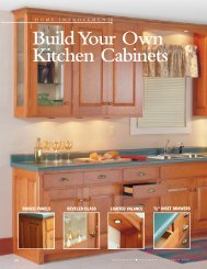 Build Your Own Kitchen Cabinets - Woodsmith Woodworking ...