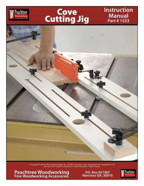 Cove Cutting Jig Peachtree Woodworking Supply