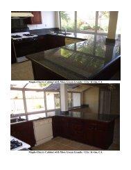Maple-Cherry Cabinet with Moss Green Granite ... - Home Bridge Inc