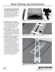Cove Cutting Jig Instructions - Rockler.com