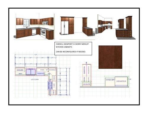 cardell newport ii cherry merlot kitchen cabinets c - Studio 41