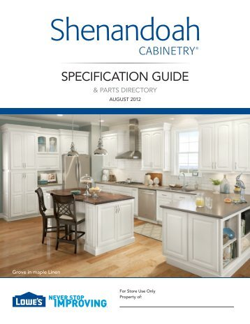 Superbe Full Specification Guide   Shenandoah Cabinetry