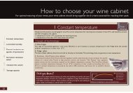 How to choose your wine cabinet