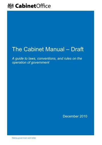 The Cabinet Manual - Draft - Gov.uk