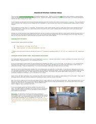 Standard Kitchen Cabinet Sizes • • - Noble Lumber