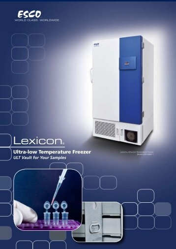 Ultra-low Temperature Freezer – Esco