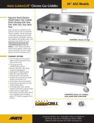 """Anets GoldenGrill™ Chrome Gas Griddles 24"""" AGC Models"""