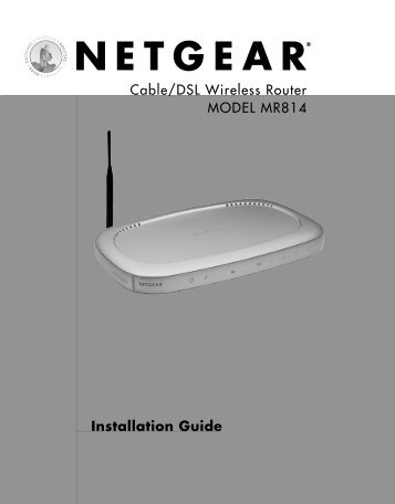 Installation Guide - netgear
