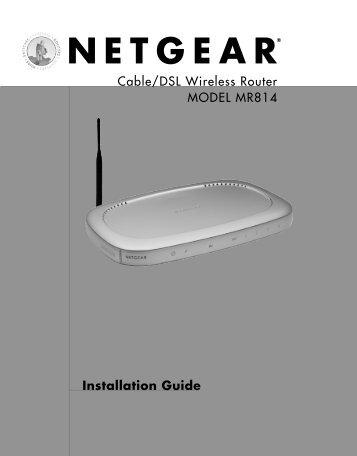 Installation Guide - netgear