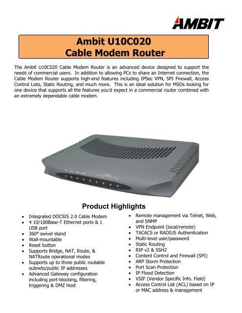 AMBIT MICROSYSTEMS AMBIT USB CABLE MODEM TREIBER WINDOWS XP