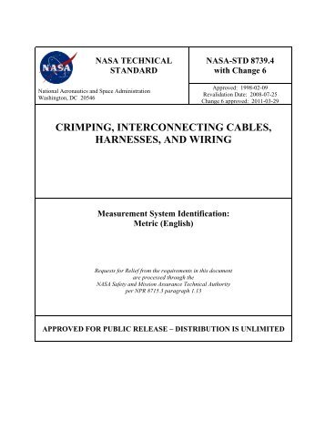 collaborative wire harness design in plm nasa step centralcrimping, interconnecting cables, harnesses, and wiring nasa