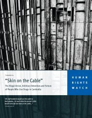 """Skin on the Cable"" - Human Rights Watch"