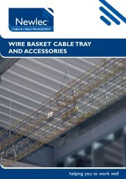 WIRE BASKET CABLE TRAY AND ACCESSORIES - Newey & Eyre
