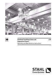 Overhead Travelling Cranes and Suspension ... - STAHL-POLSKA