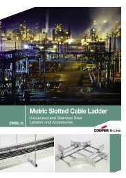 Cooper B-Line - Metric Slotted Cable Ladder ... - Cooper Industries