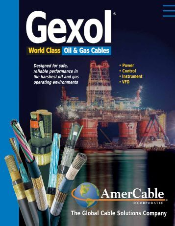 World Class Oil & Gas Cables World Class Oil & Gas Cables