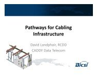 Pathways for Cabling Infrastructure, ERICO - Bicsi