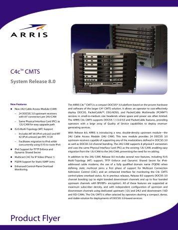 ARRIS C4c Cable Modem Termination System Release 8.0