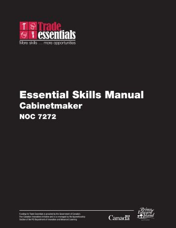 Essential Skills Manual: Cabinetmaker - National Adult Literacy ...