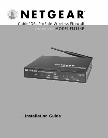 Installation Guide Cable/DSL ProSafe Wireless Firewall ... - netgear