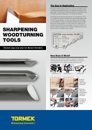 SHARPENING WOODTURNING TOOLS - Tormek