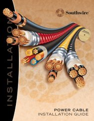 POWER CABLE INSTALLATION GUIDE - Southwire