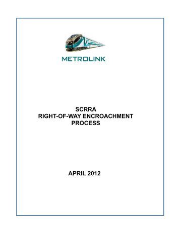 Scrra Form No 6 Temporary Right Of Entry Agreement Metrolink