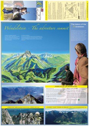 """Download-Service: Info brochure """"The Wendelstein Top 10"""