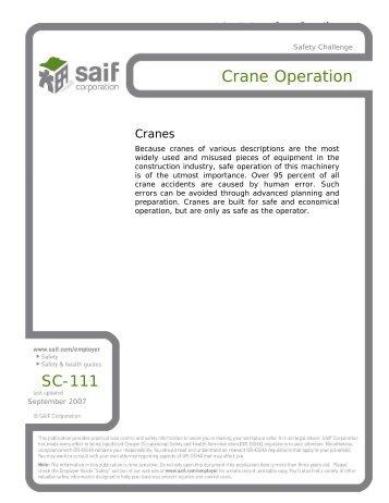 Crane Operation - SAIF Corporation