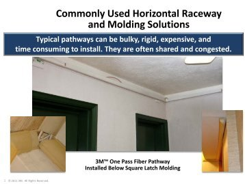 Commonly Used Horizontal Raceway and Molding Solutions